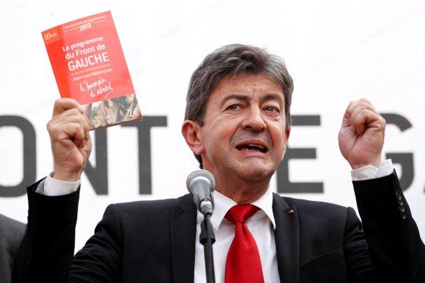 Jean-Luc Mélenchon, Parti de gauche co-president and Front de gauche leader