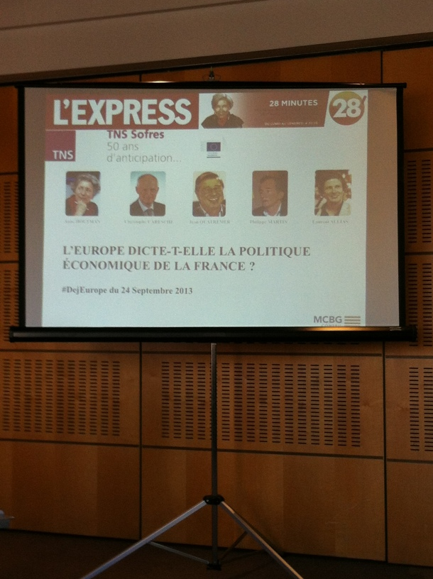 """During the conference-debate, the 24th of September, """"L'Express"""" headquarters"""